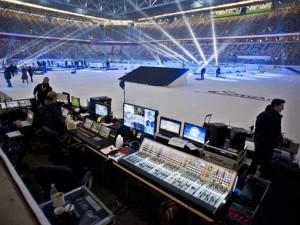 Mega Aufwand in Sachen Technik wie hier beim DEL Wintergame - © by Media