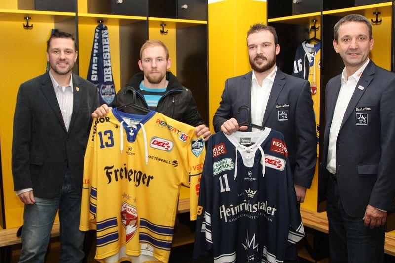 V.l.: Dirk Rohrbach (WSW), Andre Muecke (WSW), Steven Rupprich (DD), Thomas Popiesch (DD) - © by Th. Heide
