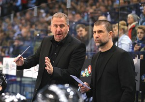 Trainer Rob Wilson (links) und Sportdirektor Martin Jiranek treffen in den Playoffs auf Iserlohn - © by EH-Mag. (RH)