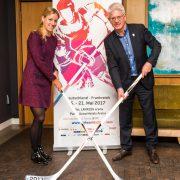 Angelique Kerber ist offizielle Botschafterin der 2017 IIHF Eishockey-Weltmeisterschaft