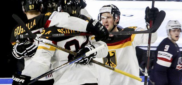 Eishockey-WM: DEB-Team feiert sensationellen 2:1 Auftaktsieg gegen die USA