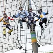 Vier Weltmeister über dem Olympiastadion