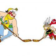 Asterix und Obelix sind offizielle Maskottchen der 2017 IIHF Eishockey-Weltmeisterschaft