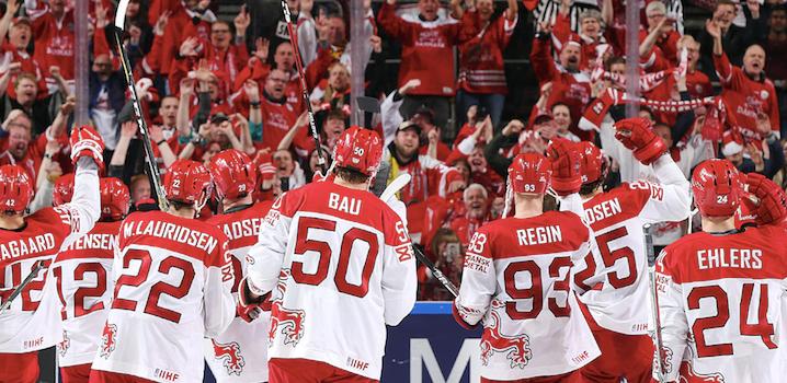 Eishockey-WM im dänischen Herning mit riesiger Fan-Stadt
