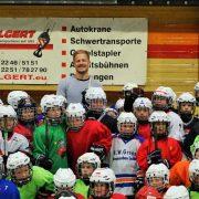 Hoher Besuch im Icedome beim Training der Nachwuchsmannschaften des EHC Troisdorf Dynamite e.V.