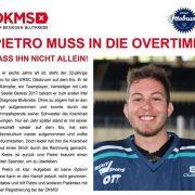 Pietro muss in die Overtime! Der 22-jährige Eishockeyspieler ist weiterhin auf der Suche nach seinem Lebensretter