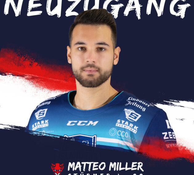 Erster Neuzugang für die Devils: Matteo Miller verstärkt das Team