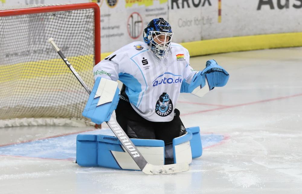Icefighters Goalie Eric Hoffmann hielt seinen Kasten sauber – © Sportfoto-Sale (DR)